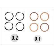 Säätölevy, 12x15mm, 0.1/0.2mm, 4kpl per