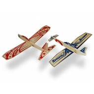Super Hero Twin Pack Balsa Glider Airplanes (24+24)