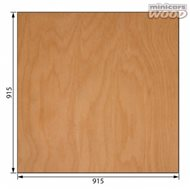 Aircraft Birch Plywood 1.5 x 915 x 915 mm 3-ply