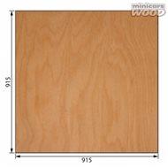 Aircraft Birch Plywood 4.0 x 915 x 915 mm 7-ply