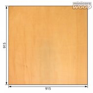 Basswood Plywood 3.0 x 915 x 915 mm 3-ply