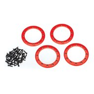 "Alu Beadlock Rings 2,2"" Red (4)"