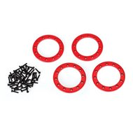 "Beadlock Rings Alu Red 1.9"" (4)"