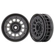 """Wheels Method 105 1.9"""" Charcoal Black Beadlock"""