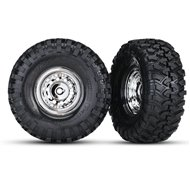 "Canyon Trail Tires & Chrome Wheels 1.9"" for 8255A (2)"