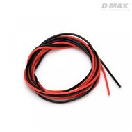 Wire Red & Black 24AWG D0.5/1.6mm x 1m
