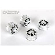 CARTEN 10 Spoke Wheel +1mm (Silver)