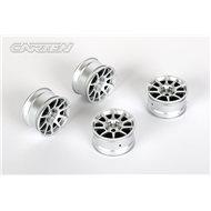 CARTEN 10 Spoke Wheel +4mm (Silver)