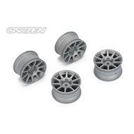 CARTEN 10 Spoke Wheel +4mm (Gray)
