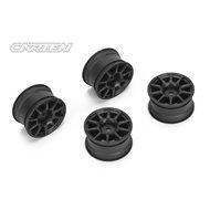 CARTEN 10 Spoke Wheel +1mm (Black)