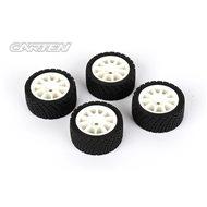 CARTEN M-Rally Tires+Wheels 10 Spoke White +1mm (4PCS)