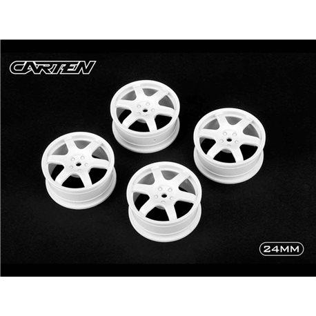 CARTEN 6 Spoke Wheel White 24mm (4)