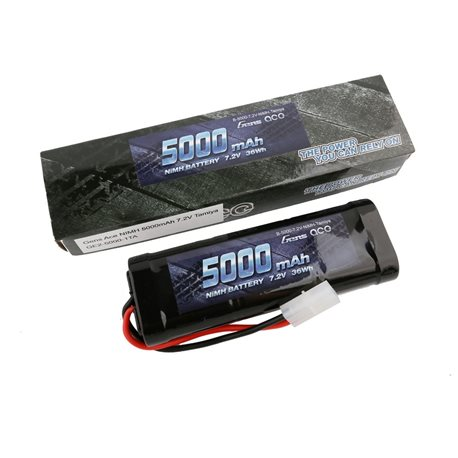 Gens ace Battery NiMh 7.2V-5000Mah (Tamiya) 135x48x25mm 420g