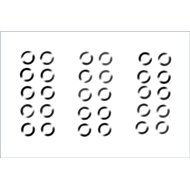 Säätölevy, 3x5mm, 0.1/0.2/0.3mm, 10kpl per