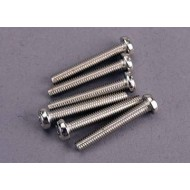 Screws, 3x20mm roundhead machine (6)
