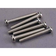 Screws, 3x23mm roundhead machine (6)