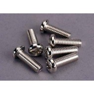 Screws, 4x12mm roundhead machine (6)