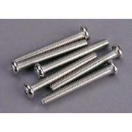 Screws, 4x30mm roundhead machine (6)