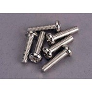 Screws, 4x15mm roundhead machine (6)