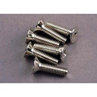 Screws, 4x15mm countersunk machine (6)