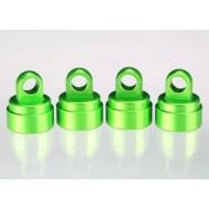 Shock caps, aluminum (green-anodized) (4) (fits all Ultra Sh