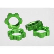 Wheel nuts, splined 17mm green (4)
