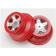 Wheel SCT Satin Chrome, red beadlock(2)